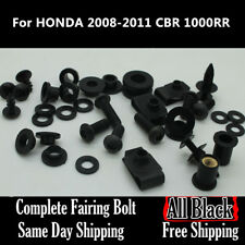 NT Complete Black Fairing Bolt Body Screw for HONDA 2008-2011 CBR 1000RR Ua15