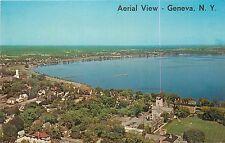 Aerial View of Geneva New York NY Finger Lakes Postcard
