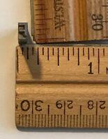 Vintage Antique Metal Printer Printing Press Block TINY letter F (7668B)