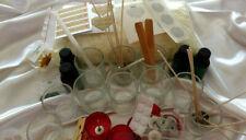 Large Candle Making Soy Wax Kit 6 Clear Votives 6 Shot Glasses Jug Oils Tins etc