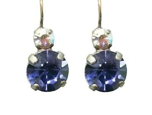 Mariana Crystal Earrings, Large, Purple and Clear (E10376 539)