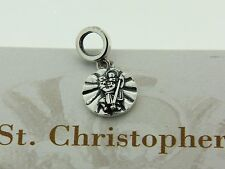 Authentic Chamilia 2010-3162 St. Christopher Soul Charm Sterling Silver Bead