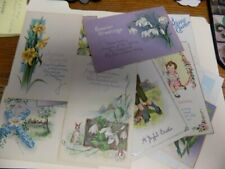 Large Lot Of Antique Easter Postcards~20~Early 1900'S~Cute, Religious, Etc.