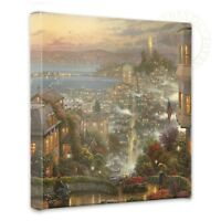 Thomas Kinkade San Francisco, Lombard Street 14 x 14 Gallery Wrapped Canvas
