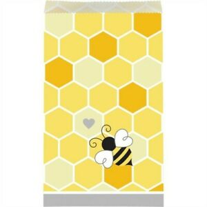 "Bumblebee Baby Treat Bags 10 Pack 7.75"" x 4.5"" Paper Bee Baby Shower Decoration"