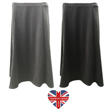 LADIES DESIGNER JERSEY A-LINE SKIRT FULL ELASTIC QUALITY MADE IN UK SIZE 12-20