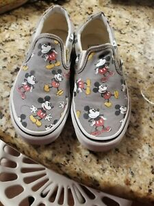 Vans X Disney MICKEY MOUSE Women's Size 6.5 or Men's 5 Slip On Shoes Sneakers