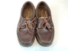 Dunham Men's Shoreline Boat Shoes, Brown Leather (MCN420SB). Size 9.5