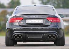 Rieger Heckeinsatz Carbon-Look Doppelend. li/ re Audi A5 B8 Sportback S-Line/ S5