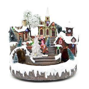 Christmas Decoration Snow Nativity LED Sculpture Home Room Party Centerpiece