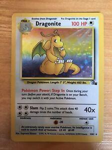 Dragonite 4/62 Rare HOLO 1999 Fossil Set Pokemon Cards WOTC