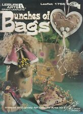 Leisure Arts Bunches of Bags recycled paper bag craft pattern book - 1997