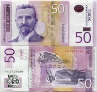 SERBIA 50 DINARA 2005 P 40 UNC