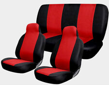 Universal Red and Black Car Seat Covers Comfort Full Set For Vehicles