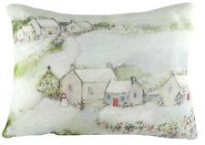 Evans Lichfield Winter Snow Christmas Village Snowmen Filled Cushion 43 X 33cm