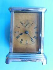 Early Chrome Plated Carriage Clock ANSONIA CLOCK Co USA 1880s