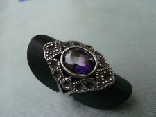 Toller, älterer Ring mit kräftigem Amethyst in Weite 52 aus 925er Silber