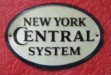 NEW YORK CENTRAL SYSTEM - Mini Metal Train Sign - Post Cereal Prize! 1950's