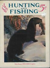 Vintage Hunting and Fishing Magazine Jan. 1928 Winter Issue in Good Condition