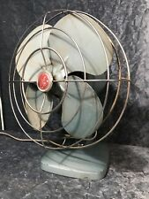 Vintage Retro Atomic General Electric Table Fan Midcentury