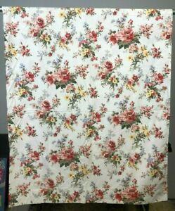 Vintage Ralph Lauren Petticoat Floral Flat Sheet Queen Size