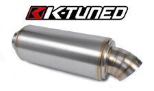 "K Tuned Turndown 2.5"" Muffler Universal Honda Acura Toyota EG EK DC FG FA"