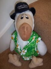 "14"" LARGE EXTINCT DODO MAURITIUS DODU SOFT TOY by WALLY PLUSH HAWAIIAN SHIRT HAT"