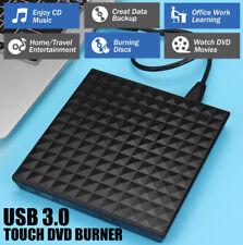 Usb3.0 Slim External Dvd Cd Rw Writer Drive Burner Reader Player For Laptop Pc