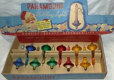 Vintage Raylite Paramount Saucer Bubble Lights With Original Box