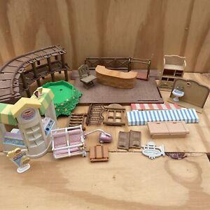 Sylvanian Families Bundle Lot Of Spare Parts, Funiture And Fixtures