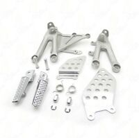 Silver Front Rider Foot Pegs Bracket For HONDA CBR1000RR 04-07 05 06