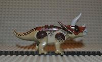 tricera01 Triceratops Dinosaurier Figur small Lego kompatibel