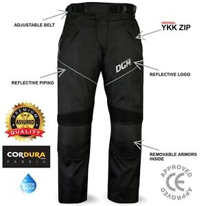 Motorbike Motorcycle Waterproof Cordura Textile Trousers Armours CE Approved