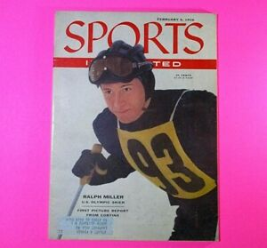 Vintage 1956 Sports Illustrated February 6 Winter Olympics Ralph Miller Sovier U