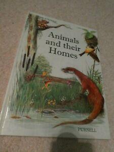 Animals And Their Homes Vintage Childrens Book 1979 Hardback Cochrane & Colman