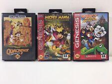 Sega Genesis Lot (3) Quackshot, Mickey Mania, Goofy's History Tour