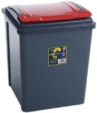 Wham Kitchen Under Counter Recycling Waste Bin 50L - Red Lid