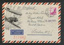 Germany cover sent by air mail to England in 1935 EF c597