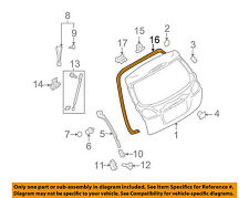SUBARU OEM 10-14 Outback Lift Gate-Weatherstrip Seal 63516AJ10A