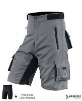 New Men's Cycling MTB Shorts Detachable Padded Liner Bicycle Bike Shorts Bottom
