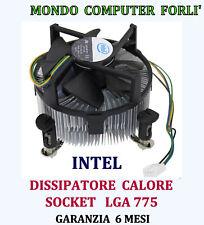 DISSIPATORE PROCESSORE SOCKET 775 LGA INTEL COOLER SKU#112AG DC12V- 0,20A SILENT