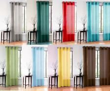 1 Single Light Filtering Solid Sheer Grommet Window Curtain Panel Treatment