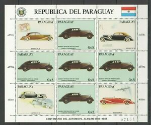 EC133 1986 PARAGUAY TRANSPORT CARS GERMANY MAYBACH MICHEL 24 EURO 1KB MNH