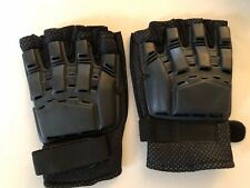 Half Finger Armored Paintball Airsoft Gloves - Black - Xl