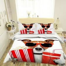 3D Fashion Dog French Fries Coke KEP065 Bed Pillowcases Quilt Duvet Cover Kay