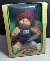 COLECO CABBAGE PATCH KID 1985 BOY RED HAIR BROWN EYES OVERALLS BOX MAXWELL NIGEL