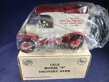 H1-55 ERTL 1:38 SCALE DIE CAST BANK - 1913 FORD MODEL T - NIB -FELIX GRUNDY DAYS