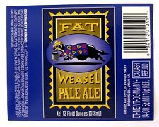 River Trent Brewing FAT WEASEL PALE ALE beer label CA 12oz