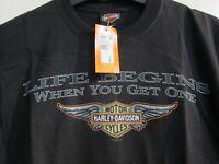 Harley-Davidson Dealer Shirt schwarz loose Fit Gr. S Herren - Damen Gr. L NEU