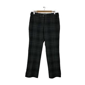 NikeGolf Tour Performance Dri Fit Gray Plaid Women's Golf Pants Size 10 / Medium